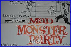 Mad Monster Party Original One Sheet 1sh Movie Poster U. S. (1967) ITB WH